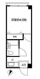 東京都江東区越中島2丁目の賃貸マンションの間取り