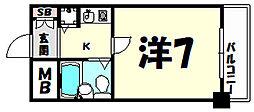 ペイサ−ジュSANKO[6階]の間取り