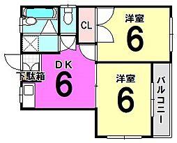 東京都葛飾区細田1丁目の賃貸マンションの間取り
