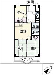 スカイハイツ塚本[3階]の間取り
