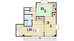 ナカムラ第2マンション[301号室]の間取り