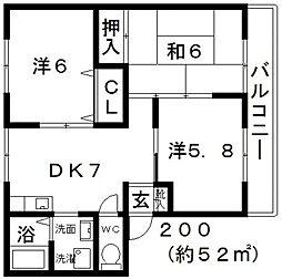 パナハイツコモダ[103号室号室]の間取り