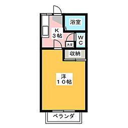 ハイム88A[1階]の間取り