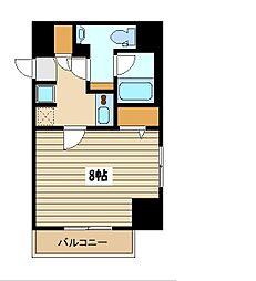 西武池袋線 保谷駅 徒歩4分の賃貸マンション 10階1Kの間取り