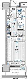 東京メトロ有楽町線 豊洲駅 徒歩8分の賃貸マンション 6階1Kの間取り