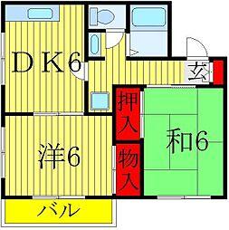 セジュール八ヶ崎[2階]の間取り