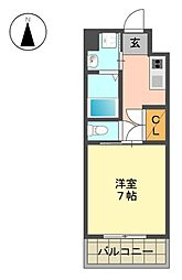 BonneChance(ボンヌシャンス)[2階]の間取り