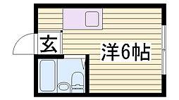ヤング篠原[1階]の間取り