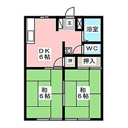 岡戸アーバンハイツ[1階]の間取り