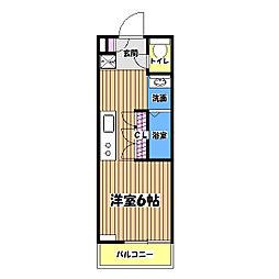B CITY APARTMENT TACHIKAWA tokyo[2階]の間取り