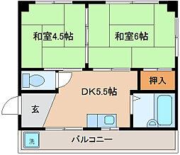 兵庫県神戸市兵庫区三石通2丁目の賃貸マンションの間取り