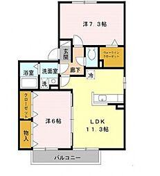 ファミール田井城[A201号室号室]の間取り