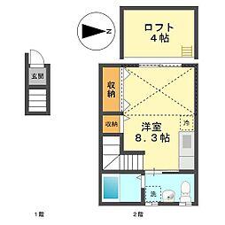 東京都葛飾区鎌倉4丁目の賃貸アパートの間取り
