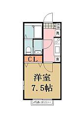 リリックコート・SERENA VI[203号室]の間取り