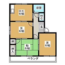 タウニィ高美[2階]の間取り