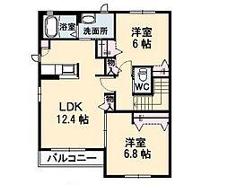 デセンテコートHMC B棟[2階]の間取り