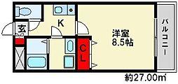 ブルーアジュール[7階]の間取り