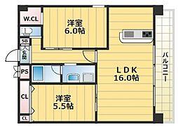 グランドゥーエ永和駅前[904号室号室]の間取り