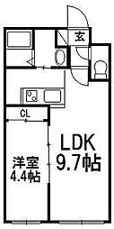 北海道札幌市豊平区月寒中央通10丁目の賃貸マンションの間取り