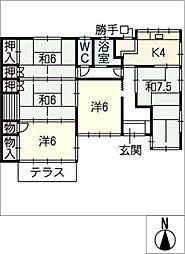 [一戸建] 三重県鈴鹿市東江島町 の賃貸【/】の間取り