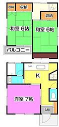 [一戸建] 埼玉県朝霞市溝沼6丁目 の賃貸【/】の間取り