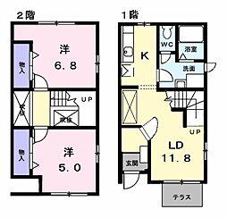 カミューナII[1階]の間取り