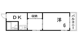大垣マンション[2階]の間取り
