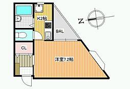 ボワリジェール[3階]の間取り