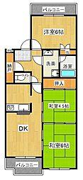 パルピアマンション[4階]の間取り