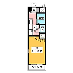アネックスフジヤ2[1階]の間取り