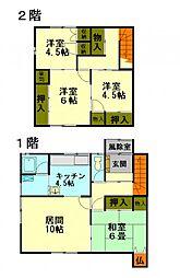 [一戸建] 北海道小樽市入船3丁目 の賃貸【北海道 / 小樽市】の間取り