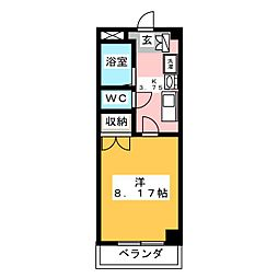 エアロスペース鶴田[2階]の間取り