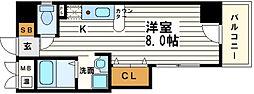 レジェンドール堺筋本町[5階]の間取り