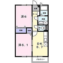 ウィンドミル123−II[102号室]の間取り