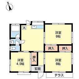[一戸建] 神奈川県秦野市渋沢2丁目 の賃貸【/】の間取り