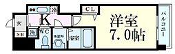 Osaka Metro谷町線 谷町四丁目駅 徒歩7分の賃貸マンション 4階1Kの間取り