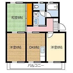 静岡県静岡市葵区昭府1丁目の賃貸マンションの間取り