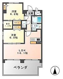 サミット栗田中央[3階]の間取り