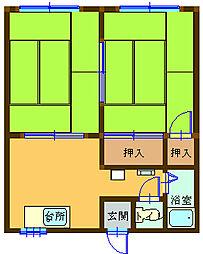 第32ASKコーポ[2階]の間取り