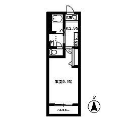 ノワールブラン[1階]の間取り