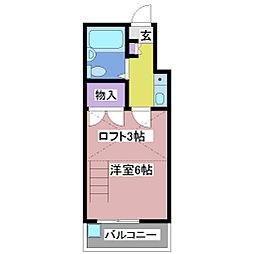 サンブルー江井島[2階]の間取り