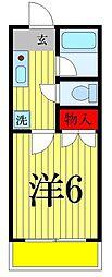 東京都足立区谷中5丁目の賃貸アパートの間取り