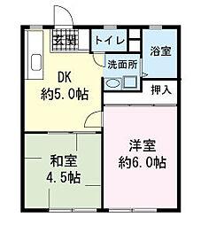 三宝ハイツA[0103号室]の間取り