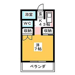 ハイツサンシャイン[2階]の間取り