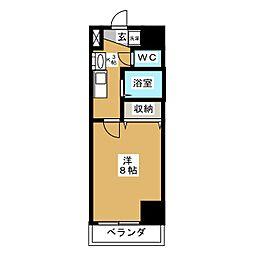愛知県名古屋市中村区名駅5の賃貸マンションの間取り