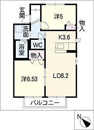 ファースト・藤[1階]の間取り