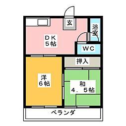 Hiコーポ本郷[2階]の間取り