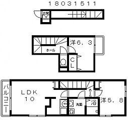 ブラウンメゾン[2階]の間取り