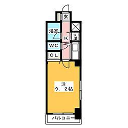 JU GRAND MORE県庁口[2階]の間取り