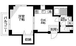 東京都文京区音羽1丁目の賃貸マンションの間取り